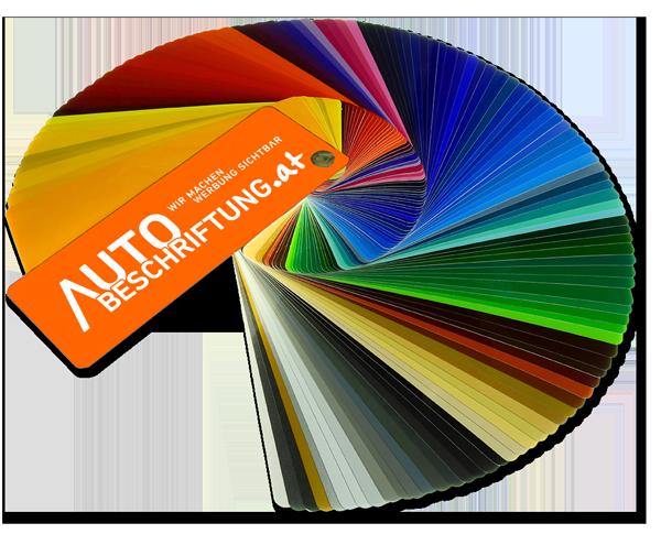 Große Farbauswahl bei Klebebuchstaben und Folienschriften